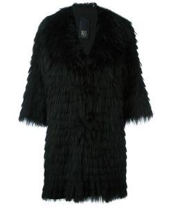 Numerootto | Three-Quarters Sleeve Coat Womens Size 42 Racoon Fur