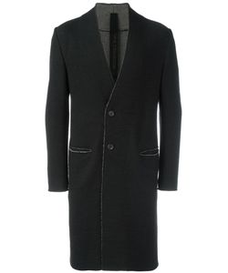 Forme D'expression | Collarless Duster Coat Mens Size 50 Cotton/Wool