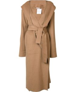 Barbara Casasola | Belted Hooded Coat Womens Size 40 Camel Hair