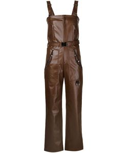 Koonhor | Faux Leather Dungarees