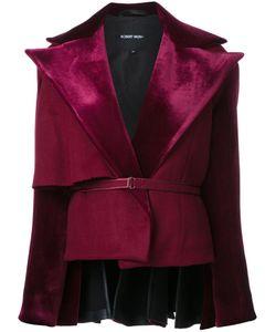 Robert Wun | Peplum Back Jacket Womens Size 8 Nylon/Polyester/Wool