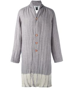 Suzusan | Single Breasted Coat Adult Unisex Size Xl Cotton/Linen/Flax/Wool