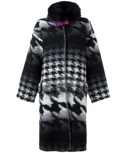 Ava Adore | Collar Detail Houndstooth Coat Womens Size 38 Virgin