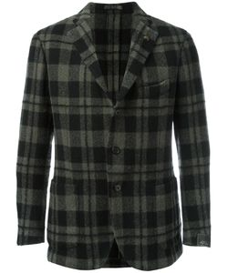 Gabriele Pasini | Checked Blazer Mens Size 46 Wool/Alpaca/Mohair