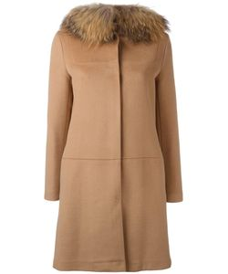 Ava Adore | Buttoned Mid Coat Womens Size 40 Virgin Wool/Cashmere/Raccoon