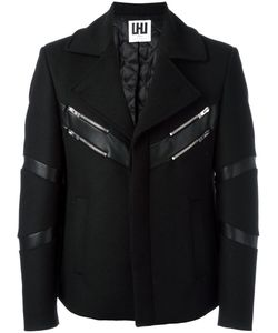 Les Hommes Urban   Padded Jacket Mens Size 48 Wool/Polyester/Polyamide/Viscose