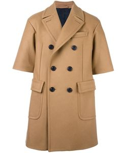 Wooster + Lardini | Shortsleeved Double-Breasted Coat Mens Size 46 Wool/Viscose/Cotton