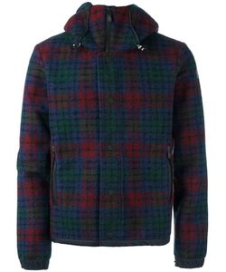 Moncler Grenoble | Checked Hooded Jacket Mens Size Medium Polyester/Virgin Wool/Polyamide