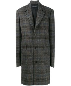 Y / Project   Oversized Herringbone Coat Womens Size Small Acetate/Polyurethane/Polyester
