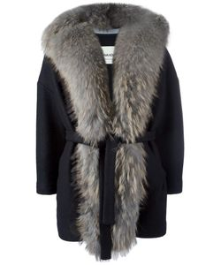 Ava Adore | Fur Detail Jacket Womens Size 46 Raccoon Dog/Wool/Acrylic