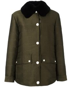 Moncler Gamme Rouge   Edelweiss Coat Womens Size 2 Cotton/Polyamide/Polyester/Rabbit Fur