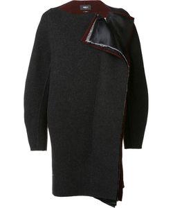Yang Li | Collarless Cocoon Coat Womens Size 40 Virgin Wool/Cotton/Polyester