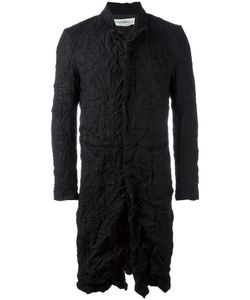 Individual Sentiments   Creased Effect Coat Adult Unisex Size 2 Cotton/Wool/Cashmere/Silk