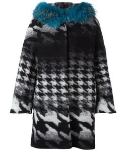 Ava Adore | Margaret Coat Womens Size 44 Racoon Fur/Cotton/Virgin Wool/Polyester