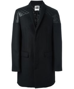 Les Hommes Urban   Buttoned Mid Coat Mens Size 48 Wool/Polyester/Nylon/Cotton