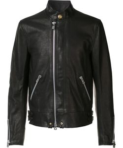 The Soloist | Banded Collar Jacket Mens Size 50 Cupro/Calf Leather