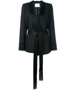 Racil | Shawl Lapel Belted Jacket Womens Size 38 Wool/Triacetate/Viscose/Polyester