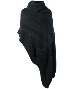 A New Cross | Oversized Flannel Neck Poncho Mens Size Medium