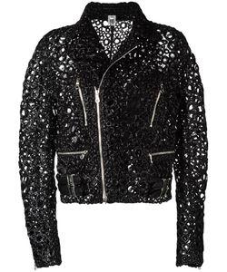 Comme Des Garçons Noir Kei Ninomiya | Embellished Biker Jacket Womens Size