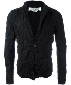 Individual Sentiments   Creased Effect Blazer Adult Unisex Size 1 Cotton/Wool/Cashmere/Silk