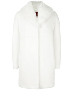 Moncler Gamme Rouge   Padded Fur Lined Coat Womens Size 2