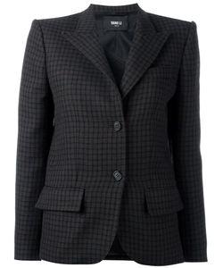 Yang Li | Checked Blazer Womens Size 40 Virgin Wool/Polyamide/Polyester/Acetate