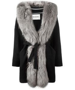 Ava Adore | Fur Trim Coat Womens Size 44 Wool/Acrylic/Acetate/Raccoon Dog