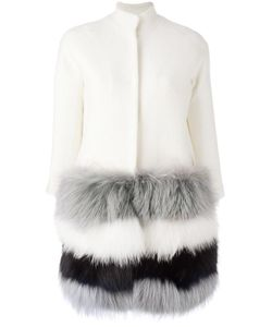 Ava Adore | Trim Detail Coat Womens Size 42 Raccoon Dog/Wool/Viscose