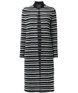 Martin Grant | Striped Cardi-Coat Womens Size 40 Cotton/Polyamide/Polyester/Spandex/Elastane