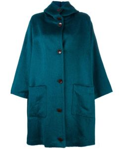 Dusan   Fur Effect Boxy Raincoat Womens Alpaca/Virgin Wool