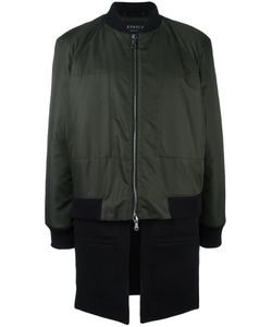 Letasca   Trompe Loeil Bomber Coat Mens Size Large Polyester/Wool