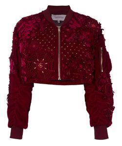 Amen | Embellished Bomber Jacket Womens Size 40 Polyester/Cotton/Spandex/Elastane/Viscose
