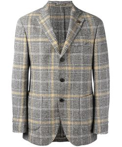 Gabriele Pasini | Checked Blazer Mens Size 48 Cotton/Wool/Nylon