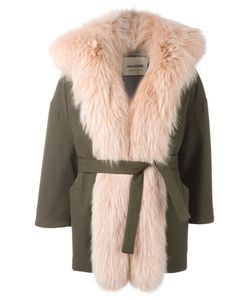 Ava Adore | Fur Trim Coat Womens Size 40 Wool/Polyacrylic/Cotton/Racoon Fur