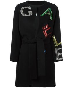 Gaelle Bonheur   Logo Coat Womens Size 40 Wool/Polyester