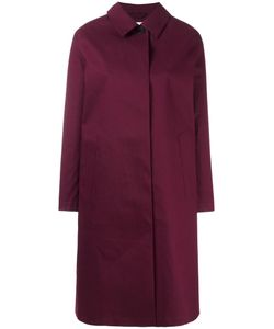 Mackintosh | Concealed Fastening Mid Coat Womens Size 40 Cotton