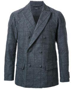 Taakk | Pinstripe Double-Breasted Blazer Mens Size 3 Polyester/Wool