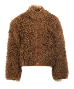 The Soloist | Furry Bomber Jacket Mens Size 50 Calf Leather/Cupro/Lamb