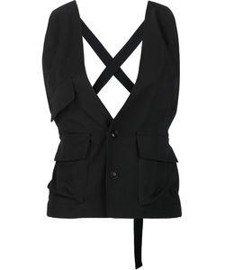 Y's   3 Pocket Vest Womens Size 2 Cupro/Wool