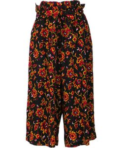 Y's   Floral Pattern Belted Trousers Womens Size 1 Cupro/Wool