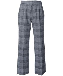 Loveless | Checked Cropped Trousers Womens Size 34 Polyester