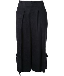 Taro Horiuchi | Cropped Pleated Trousers Womens Size Small Polyester