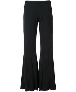 Robert Wun | Peplum Flared Trousers Womens Size 8 Polyester/Spandex/Elastane