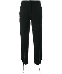 Y / Project   Zip Detail Trousers Womens Size 34 Viscose/Wool/Spandex/Elastane/Polyurethane