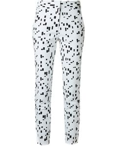 Andrea Marques | Printed Slim Fit Trousers Womens Size 36 Cotton/Spandex/Elastane
