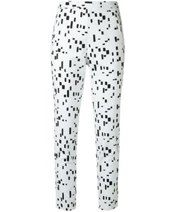 Andrea Marques | Printed Slim Fit Trousers Womens Size 38 Cotton/Spandex/Elastane