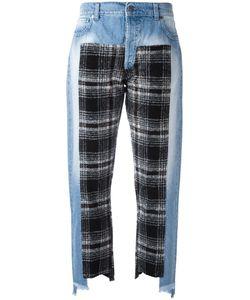 Gaelle Bonheur   Plaid Patch Jeans Womens Size 27 Cotton