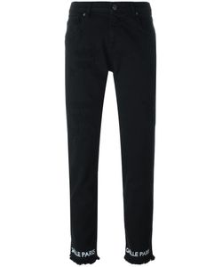 Gaelle Bonheur   Printed Tapered Jeans Womens Size 29 Cotton/Spandex/Elastane