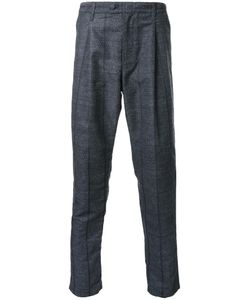 Taakk | Pinstripe Pleated Detailing Trousers Mens Size 2 Polyester/Wool