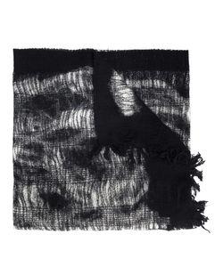 Y's   Frayed Scarf Womens Wool